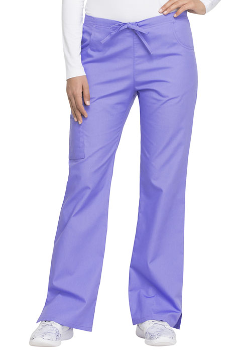 Dickies EDS Signature Mid Rise Drawstring Cargo Pant in Lavender Freesia