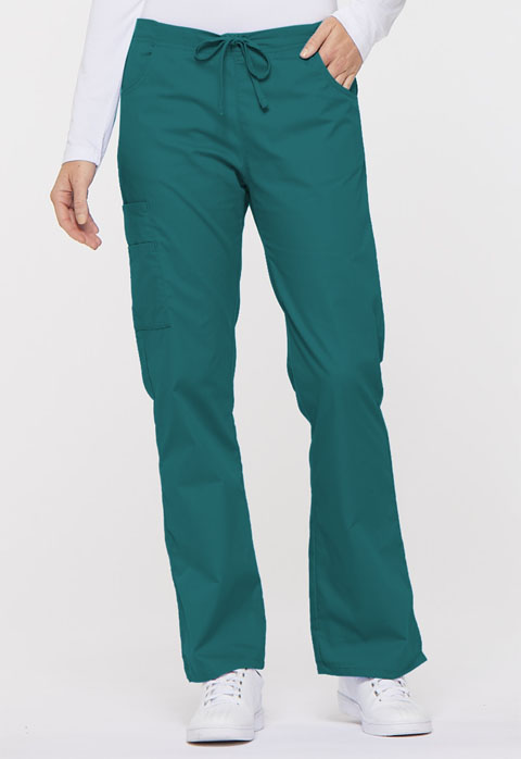 Dickies EDS Signature Mid Rise Drawstring Cargo Pant in Teal Blue