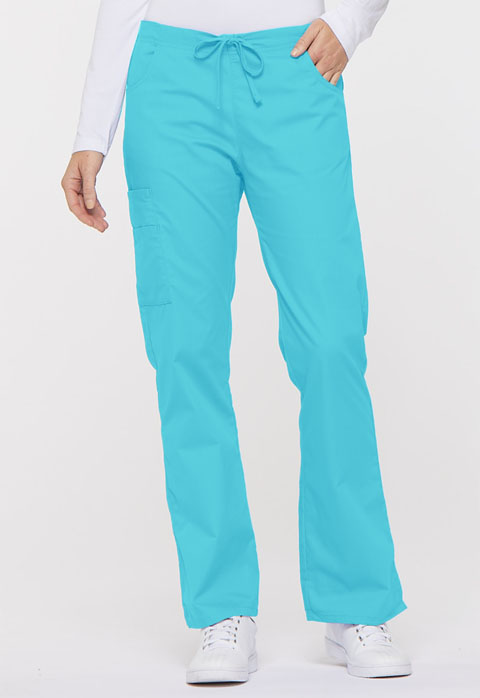 Dickies EDS Signature Mid Rise Drawstring Cargo Pant in Turquoise