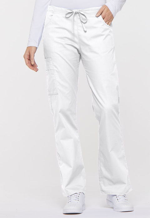 Dickies EDS Signature Mid Rise Drawstring Cargo Pant in White