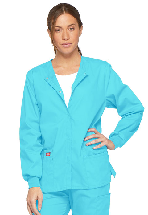 Dickies EDS Signature Snap Front Warm-Up Jacket in Turquoise