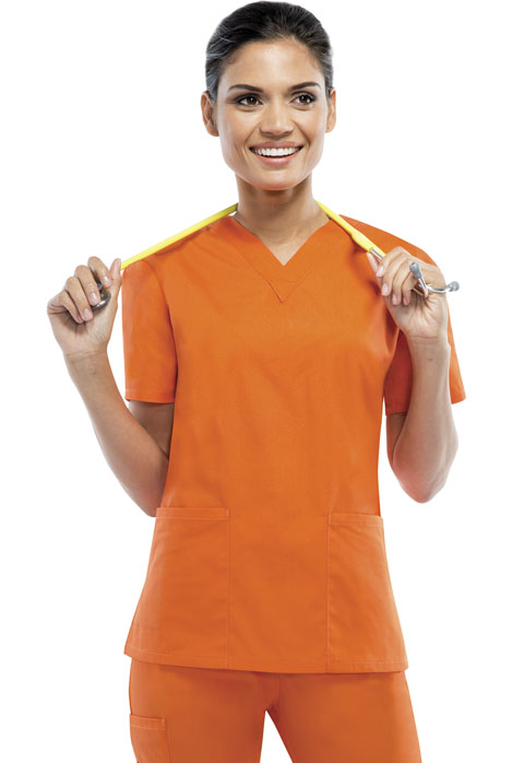 Dickies Dickies EDS Signature Women's V-Neck Top Orange