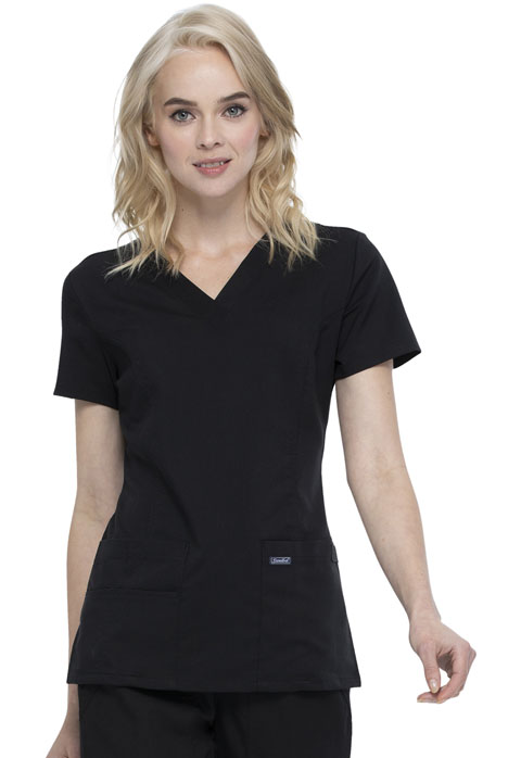 Women V-Neck Top Black