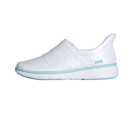 Infinity Footwear Shoes Women's BREEZE White and Aruba Blue Highlight