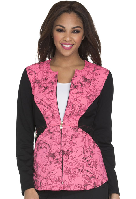 Careisma Careisma Prints Women's Zip Front Jacket Flower Fiesta