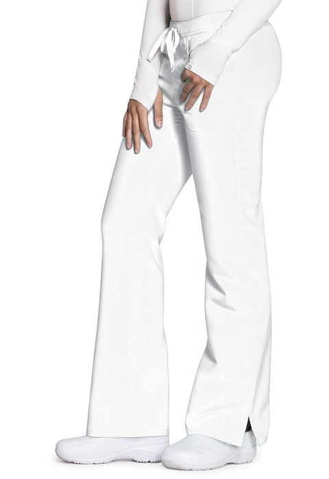 Code Happy Code Happy Cloud Nine Women's Mid Rise Moderate Flare Leg Pant White