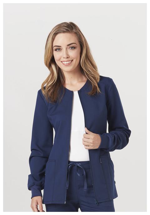Code Happy Code Happy Cloud Nine Women's Zip Front Warm-Up Jacket Blue