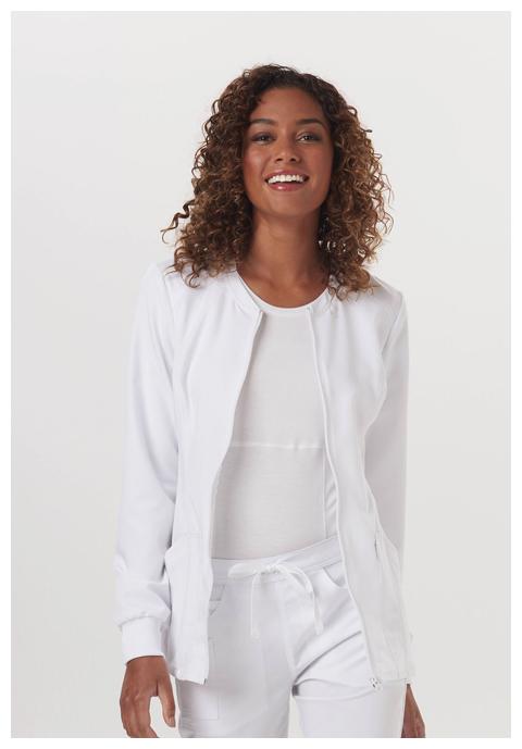 Code Happy Code Happy Cloud Nine Women's Zip Front Warm-Up Jacket White