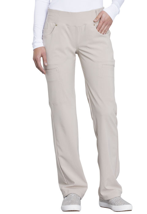 iFlex Women Mid Rise Straight Leg Pull-on Pant Khaki