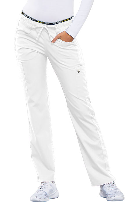 Cherokee Cherokee Luxe Women's Mid Rise Straight Leg Pull-on Pant White
