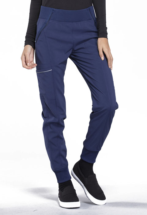 Cherokee Infinity by Cherokee Women's Mid Rise Tapered Leg Jogger Pant Blue
