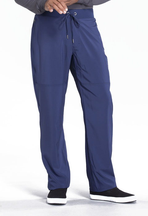 Cherokee Infinity by Cherokee Men's Men's Tapered Leg Drawstring Pant Blue
