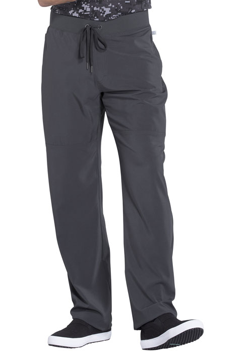 Cherokee Infinity by Cherokee Men's Men's Tapered Leg Drawstring Pant Gray
