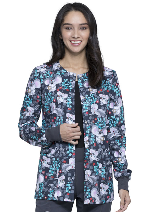 Cherokee Prints Women Snap Front Warm-up Jacket Highly Koalafied