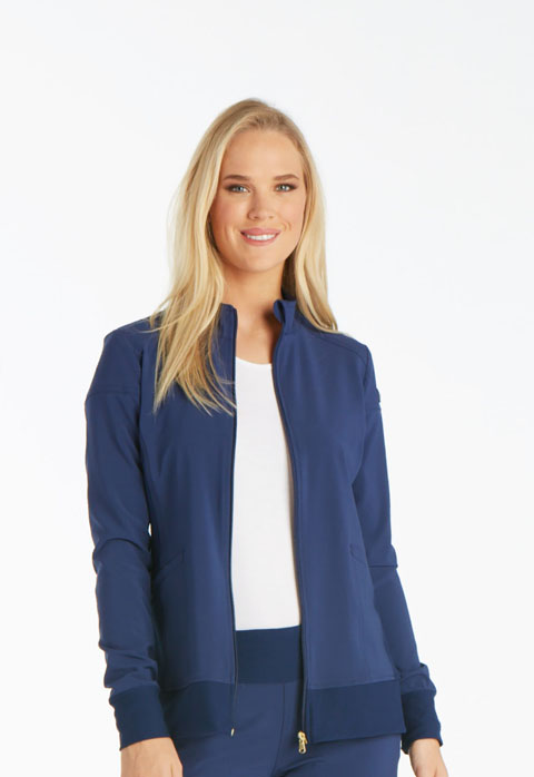 Cherokee iFlex Women's Zip Front Warm-Up Jacket Blue
