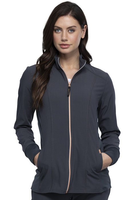 Statement Women Zip Front Jacket Gray
