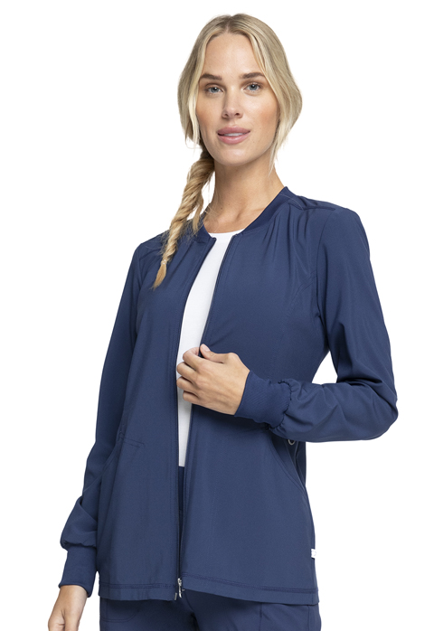 Cherokee Cherokee Infinity Women's Zip Front Warm-Up Jacket Blue