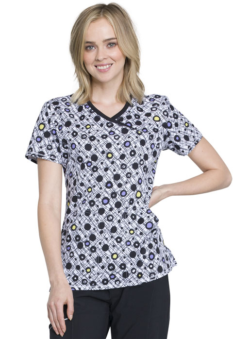 Infinity Women Mock Wrap Top Mod About Dots