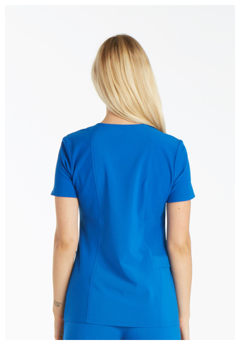 Photograph of Mock Wrap Knit Panel Top
