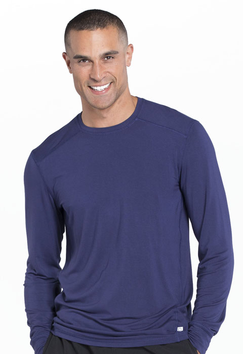 Cherokee Cherokee Infinity Men's Men's Long Sleeve Underscrub Knit Top Blue