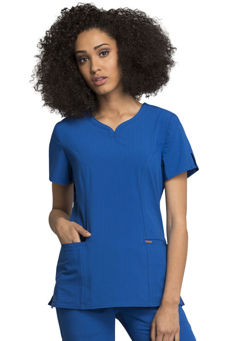 StatementRibbed V-Neck Top