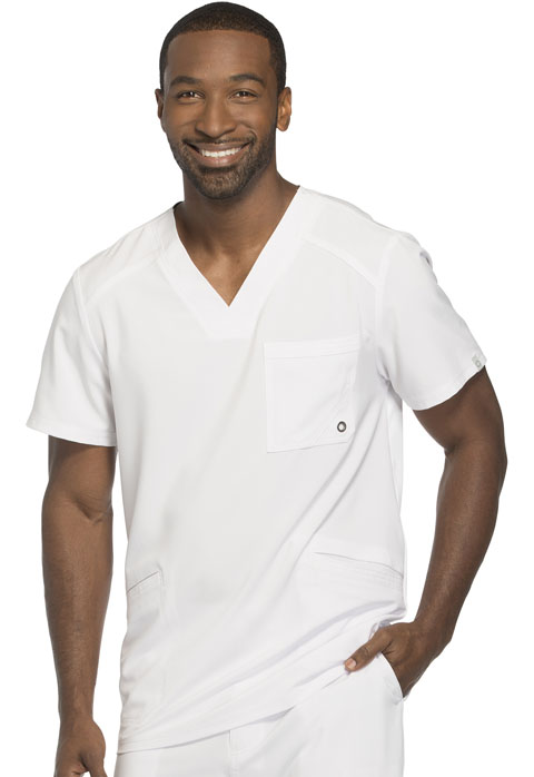 Cherokee Infinity Men's Men's V-Neck Top White