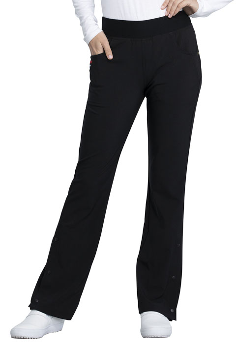 Katie Duke iFlex Women Mid Rise Moderate Flare Leg Pull-on Pant Black