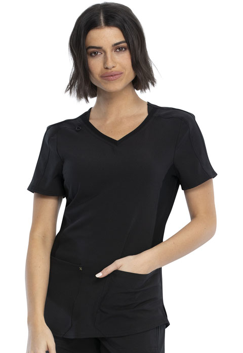 Katie Duke iFlex Women V-Neck Top Black