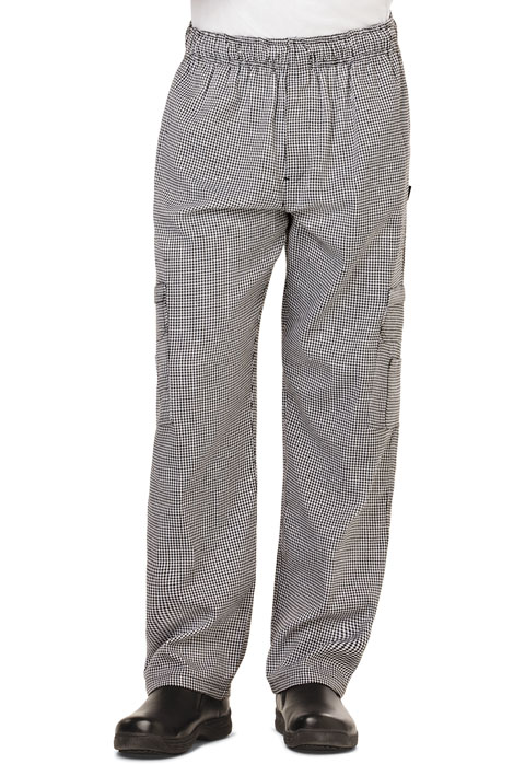 Dickies Chef Men's 5 Pocket Cargo Pant in Houndstooth