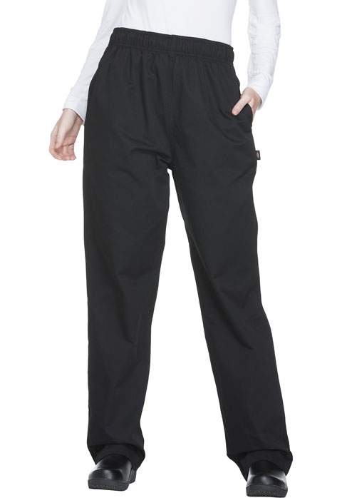 Dickies Chef Unisex Traditional Baggy 3 Pocket Pant in Black