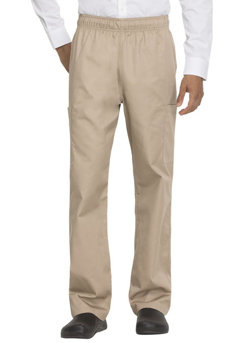 Dickies Chef Unisex Elastic Waist Cargo Pocket Pant in Khaki