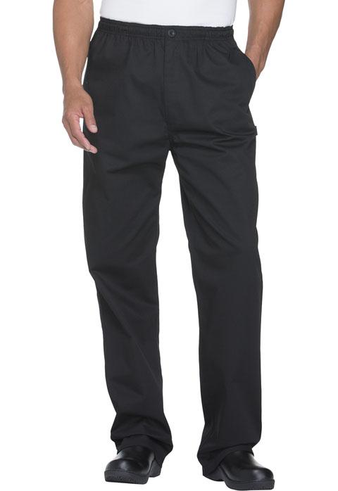 Dickies Chef Men's Men's Classic Elastic Waist Zip Trouser Black