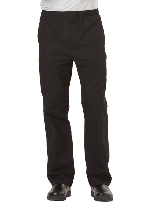 Dickies Chef Men's Traditional Baggy Zipper Fly Pant in Black