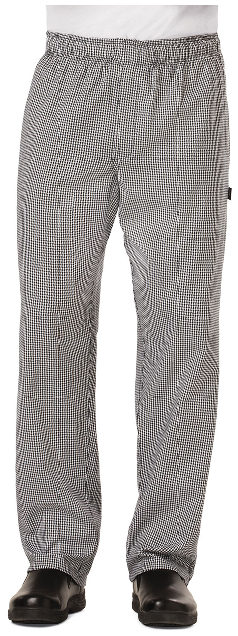 Dickies Chef Men's Traditional Baggy Zipper Fly Pant in Houndstooth