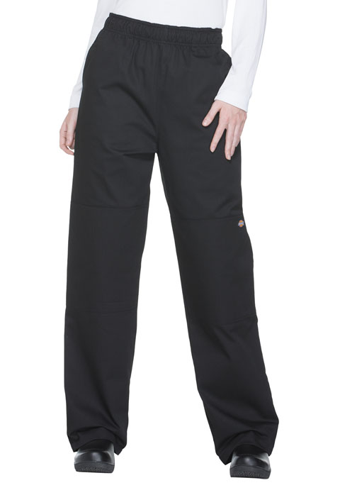 Dickies Chef Unisex Double Knee Baggy Elastic Pant in Black