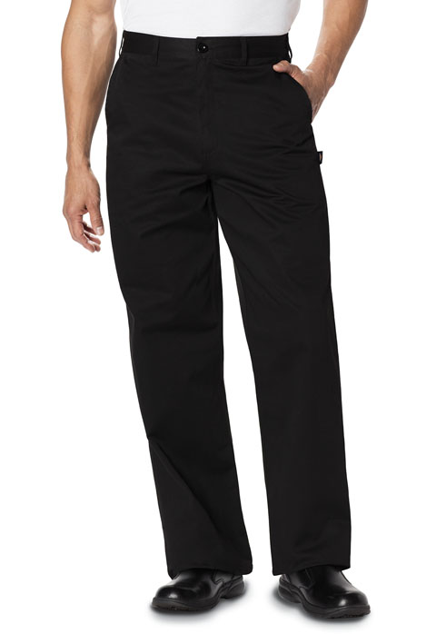 Dickies Chef Men's Men's Classic Zip-Fly Dress Pant Black