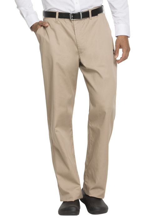 Dickies Chef Men's Classic Zip-Fly Dress Pant in Khaki