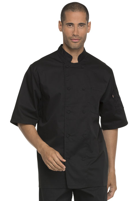 Dickies Chef Unisex Cool Breeze Chef Coat in Black