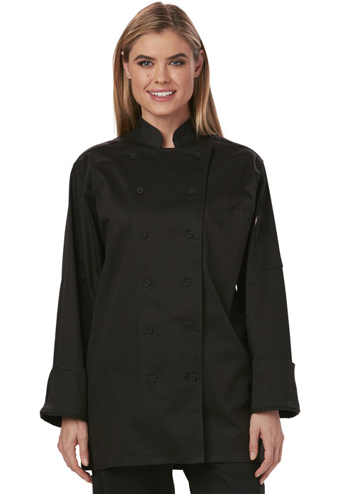 Dickies Chef Women's Executive Chef Coat in Black