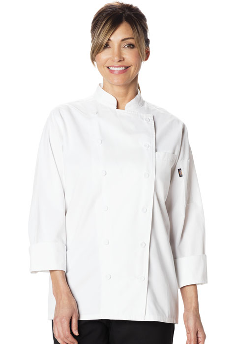 Dickies Chef Women's Executive Chef Coat in White