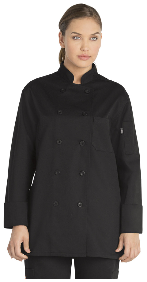 Dickies Chef Women's Classic Chef Coat in Black