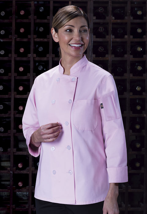 Dickies Chef Women's Classic Chef Coat in Pink