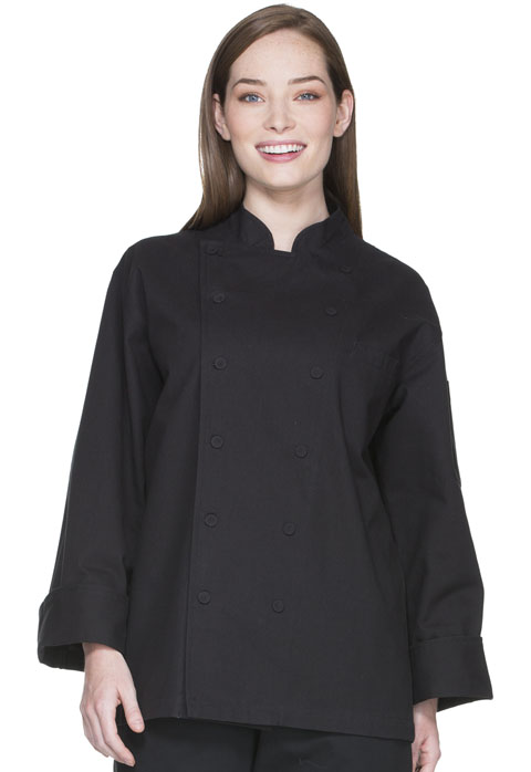 Dickies Chef Unisex Executive Chef Coat in Black