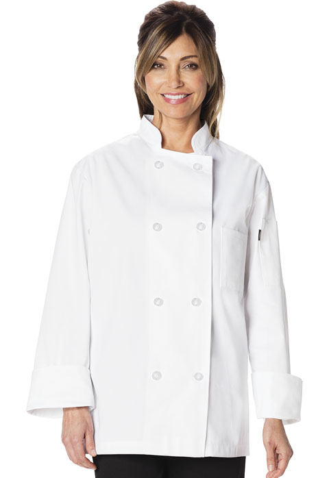 Dickies Chef Unisex Classic 8 Button Chef Coat in White