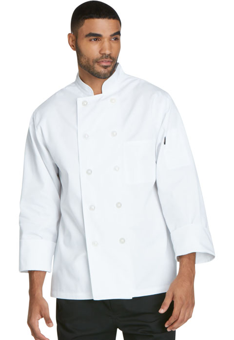 Dickies Chef Unisex Classic 10 Button Chef Coat in White