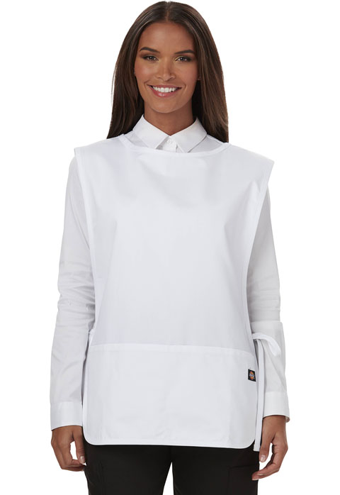 Dickies Chef Cobble Bib Apron with Tie Sides in White