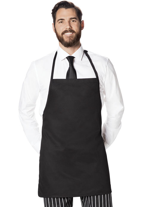 Dickies Chef Bib Apron with Adjustable Neck in Black