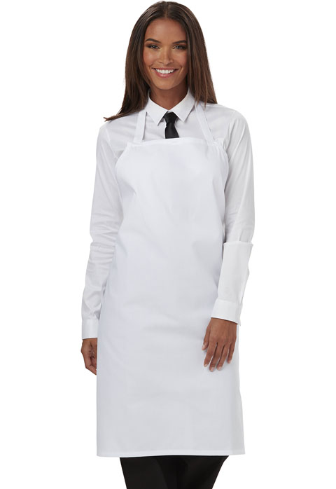 Dickies Chef Dickies Chef Unisex Set Strap, No Pocket Bib Apron White