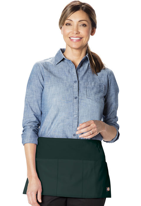 Dickies Chef 3 Pocket Server Waist Apron in Hunter Green