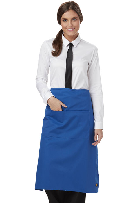 Dickies Chef Full Bistro Waist Apron with 2 Pockets in Royal